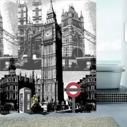 RIDEAUX DE DOUCHE LONDON BIG BEN